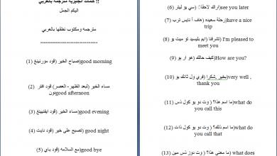 Photo of كلمات انجليزيه مترجمه بالعربي للمبتدئين