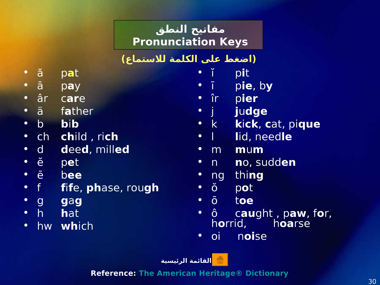 قوعد نطق الانجليزية (3)