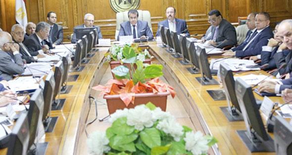 د.خالد عبد الغفار خلال اجتماع مجلس الجامعات الخاصة والأهلية