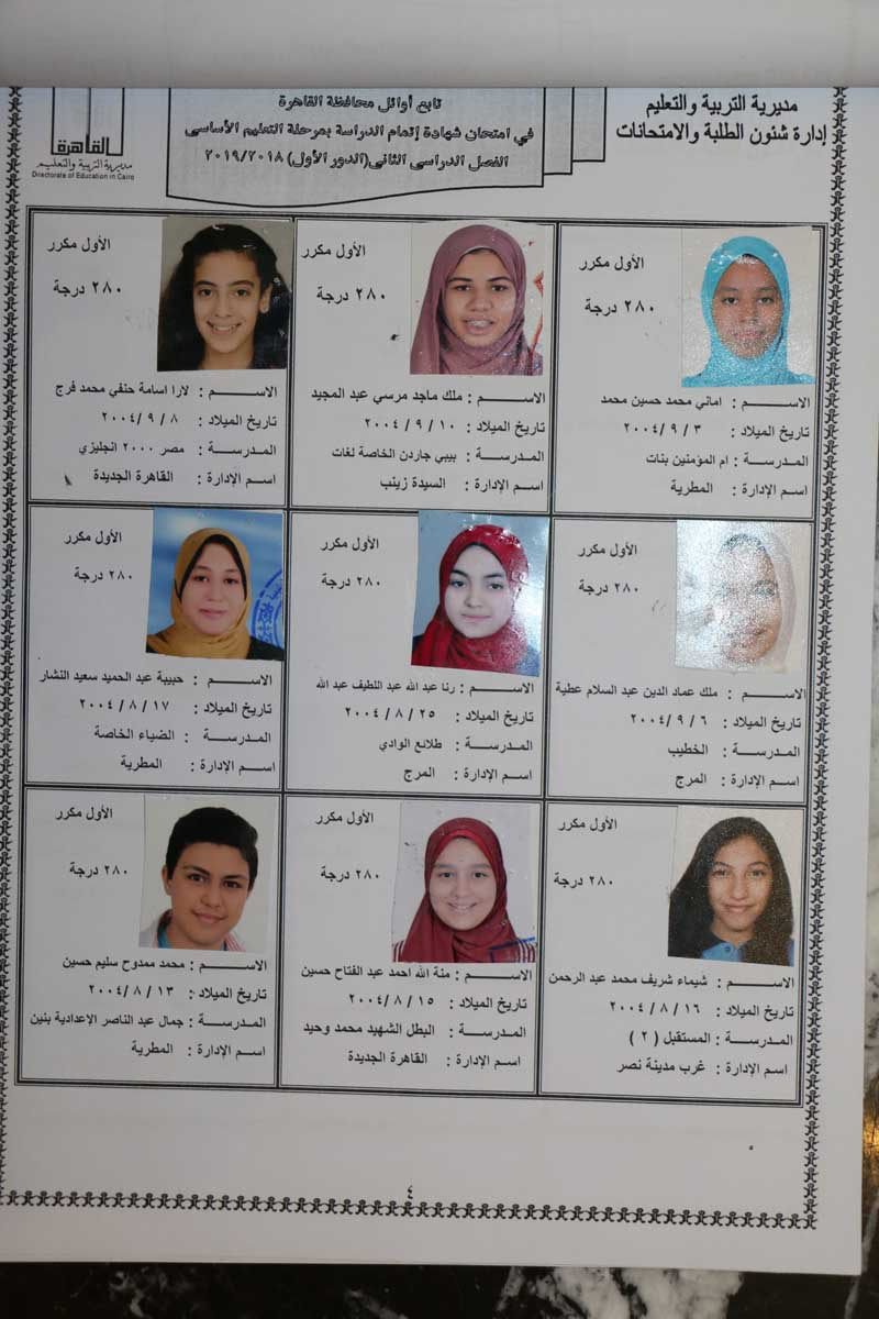 اوائل الشهادة الاعدادية بالقاهرة (3)