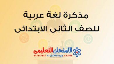 Photo of مذكرة لغة عربية للصف الثانى الابتدائى الترم الاول منهج جديد 2020