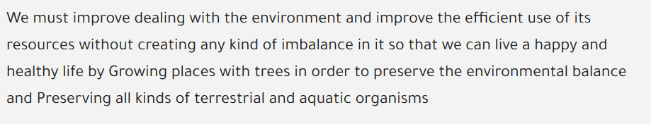 إعلان للحفاظ على الاتزان البيئي باللغة الانجليزية 3