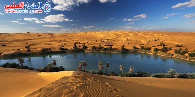 المياه فى البيئة الصحراوية