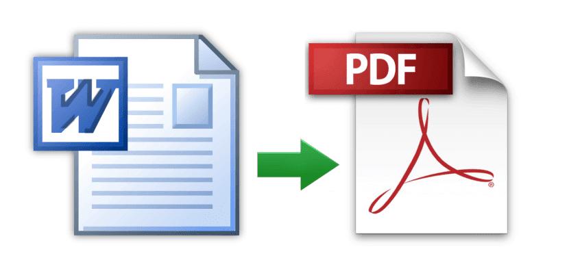 التحويل من Word الى PDF