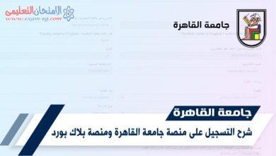 التسجيل منصة جامعة القاهرة ومنصة بلاك بورد