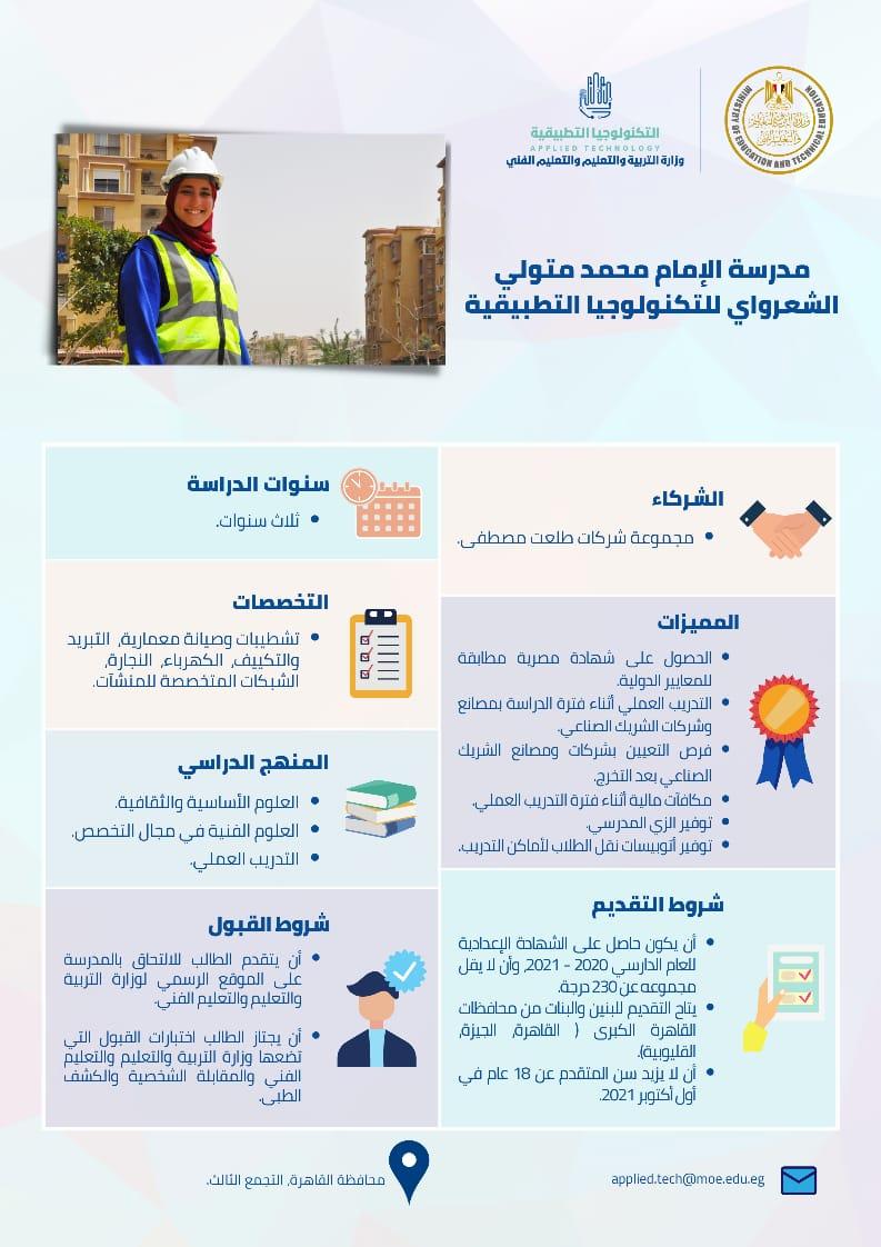 مدرسة الإمام محمد متولي الشعراوي للتكنولوجيا التطبيقية (مجموعة طلعت مصطفي)